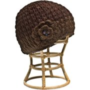 Nirvanna Designs CH75 Brown Crochet Flower Hat