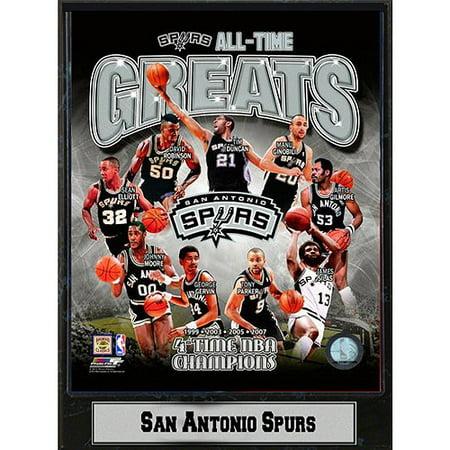 NBA San Antonio Spurs Greats Photo Plaque, 9x12