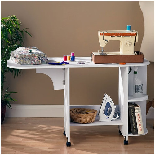 Wildon Home Bangalore Sewing Table in White - Walmart.com