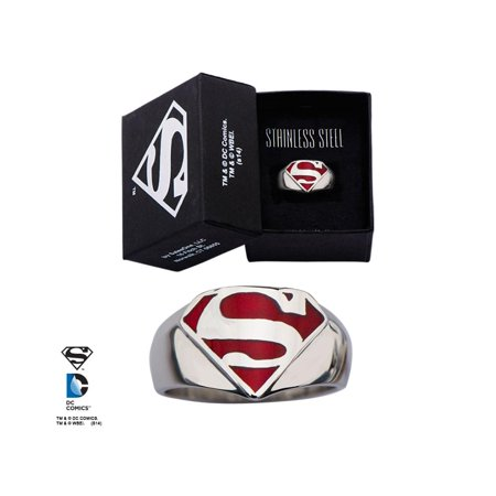 - DC Comics Superman Logo Stainless Steel Ring