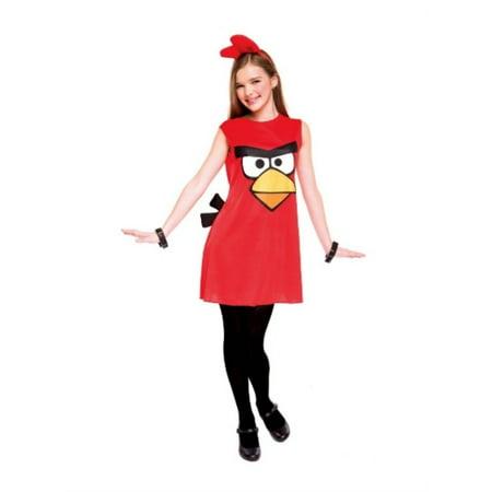 Big Bird Halloween Costume Homemade (PMG Girls Red Bird Costume Angry Birds Dress & Headpiece L)