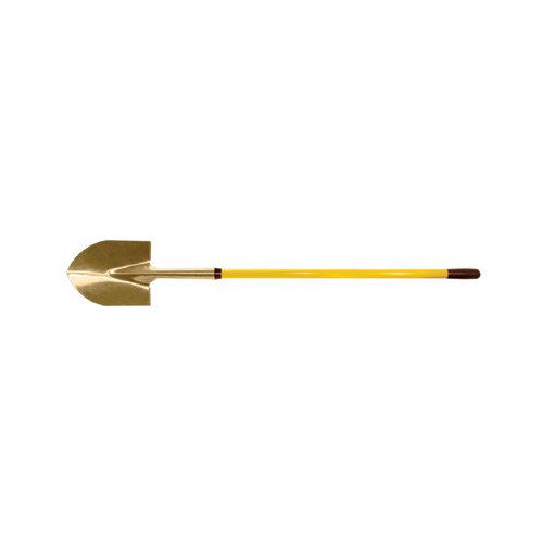 Ampco Safety Tools Round Point Shovels - 4'10'' round point shovelwith fiberglass handle