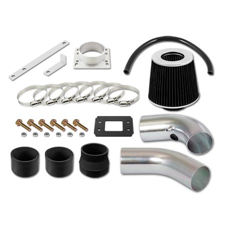RL Concepts Black Short Ram Air Intake Kit + Filter 95-97 Ford Ranger All Model with 2.3L 4-Cyl ()