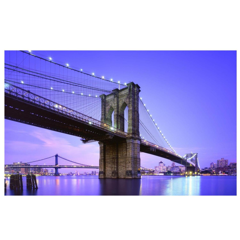 Led Lighted Famous New York City Brooklyn Bridge Canvas