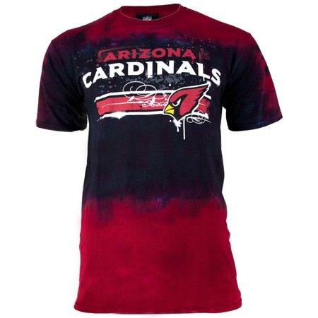 Arizona Cardinals Horizontal Stencil Tie Dye Adult T