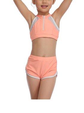 Matching Family Swimsuits Sport Women Swimwear Kids Mother Bikini Bathing Suit