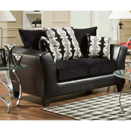 Chelsea Home Furniture Mattie Loveseat - Dempsey Black