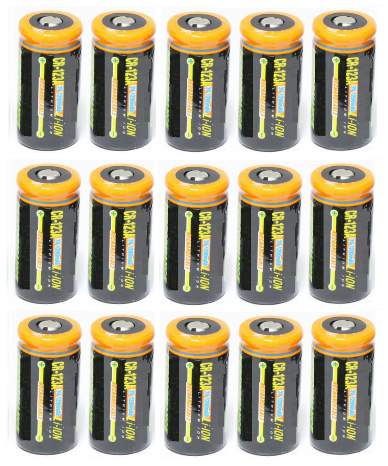 Ultimate Arms Gear 15 Pack CR123A 1200 mAh Lithium Rechargeable Batteries Battery For EOTECH Optics by