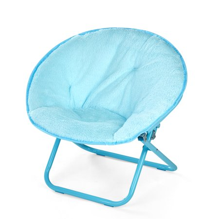 American Kids Long Hair Stripe Faux Fur Kids Saucer Chair, Multiple Colors