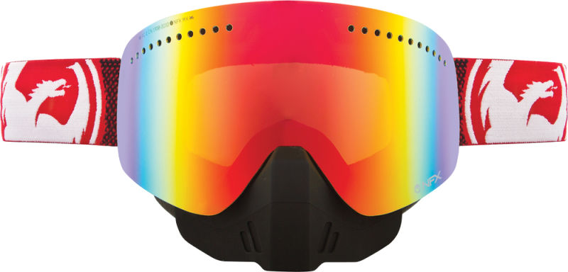NFX SNOW GOGGLE FADE RED W RED ION LENS by Dragon Alliance