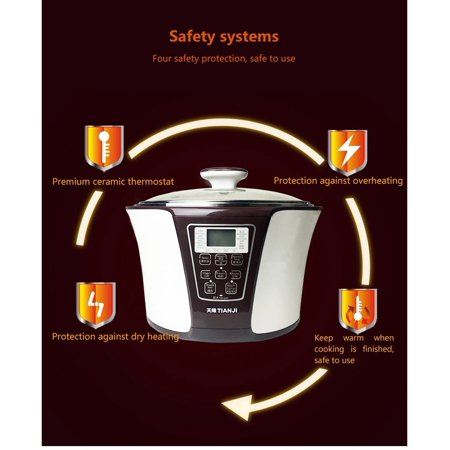 Tonze 4-In-1 Smart Electric Stew Pot Ceramic Pot Slow Cooker DGD32-32EG 3.2L+0.6L+0.45L - image 8 of 8