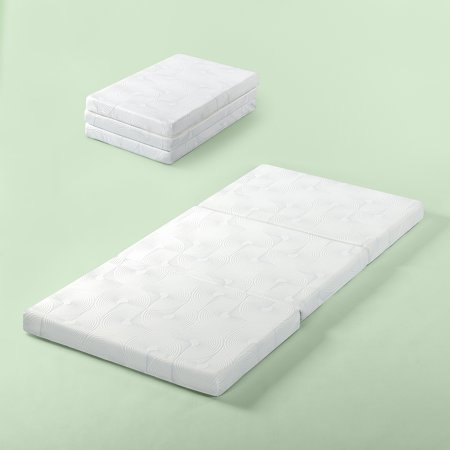 "Zinus Gel Memory Foam 3"" Portable Tri-Fold Mattress"