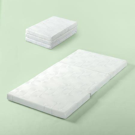 Zinus Gel Memory Foam 3 Portable Tri Fold Mattress Walmart Com