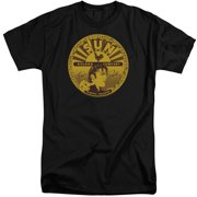 Sun Records Elvis Full Sun Records Label Mens Big and Tall Shirt