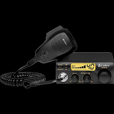 Cobra 19 DX IV CB Radio, Compact, 40 Channel, 4 Watt