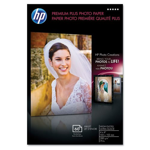 HP Premium Plus Photo Paper, 75 lbs.