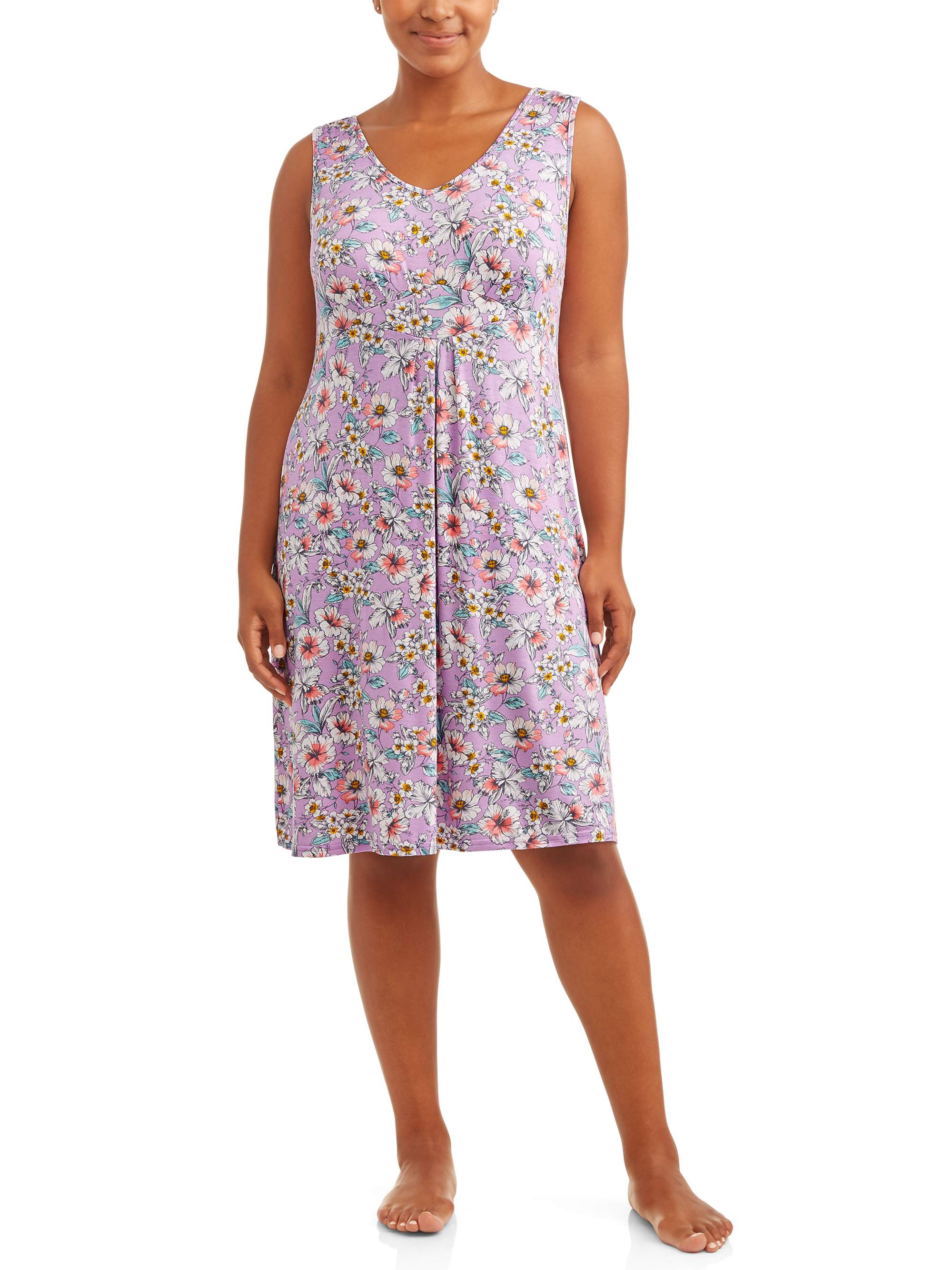 Women's and Women's Plus Print Nightgown