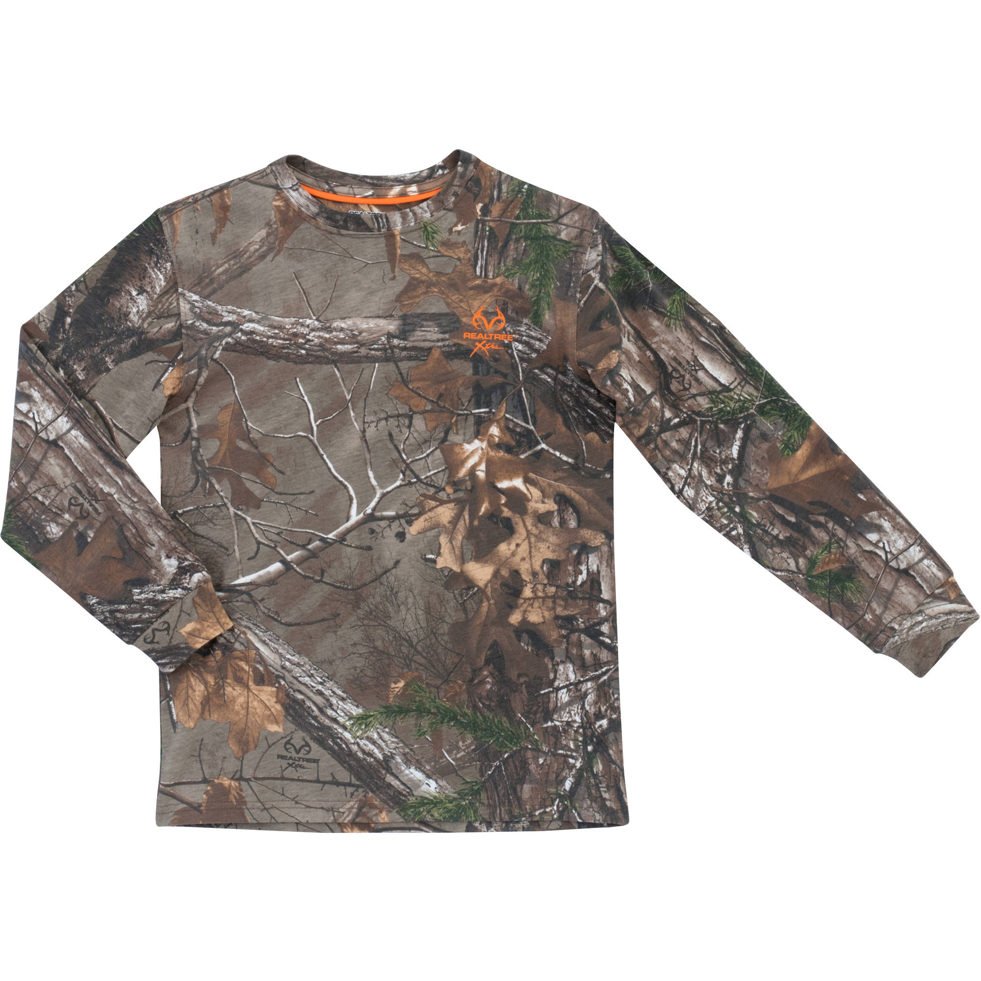 Boys' Long-Sleeved Camo Tee, Realtree Patterns