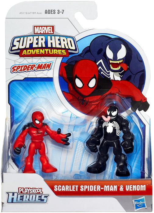 Playskool Heroes Marvel Super Hero Adventures Scarlet Spider-Man and Venom Figures by Hasbro