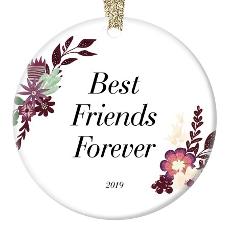 2019 Best Friends Forever Christmas Ornament Unique Vintage Shabby Chic Soul Sisters Besties Cool Holiday Keepsake Xmas Present Beautiful Friendship 3