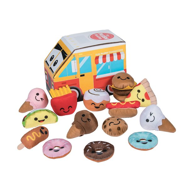 "Plush Characters"" Food Truck - Toys - 24 Pieces"