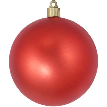 "Christmas by Krebs Large Christmas Ornaments Matte Red 4.75"" (120mm) - Walmart.com"