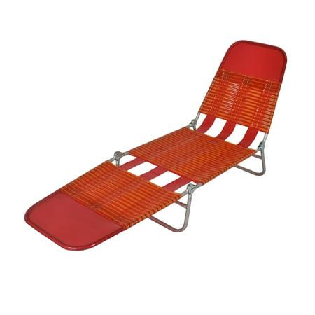 mainstays folding jelly chaise lounge orange. Black Bedroom Furniture Sets. Home Design Ideas