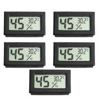 5pcs Mini Digital LCD Temperature and Humidity Meter Pet Reptile Wireless Thermometer Hygrometer