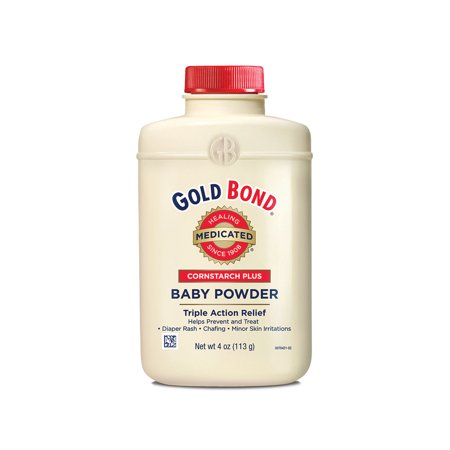 Gold Bond Cornstarch Plus Medicated Triple Action Relief Baby Powder, 4 (Gold Bond Medicated Powder For Yeast Infection)