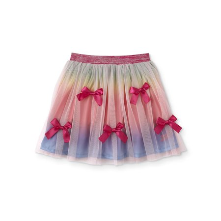 Rainbow Bow Tulle Skirt (Big Girls & - Plus Size School Girl Skirts