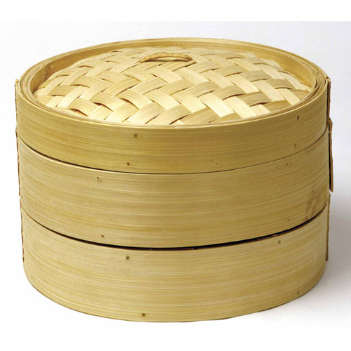 Norpro 2-Tier Bamboo Steamer with Lid