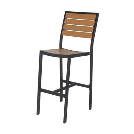 Source Contract SC-2405-172-BLK-TEK Napa Bar Side Chair, Black & Teak ()