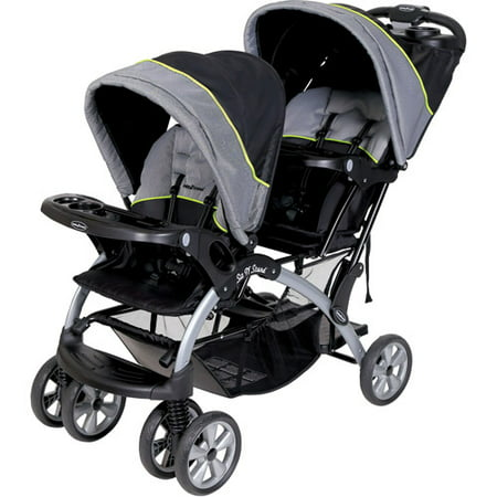 baby trend sit 39 n stand double stroller pistachio. Black Bedroom Furniture Sets. Home Design Ideas