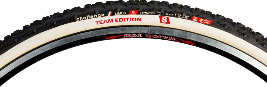 Black//White Challenge Limus Team Edition S Tire: Tubular 320tpi 700 x 33mm