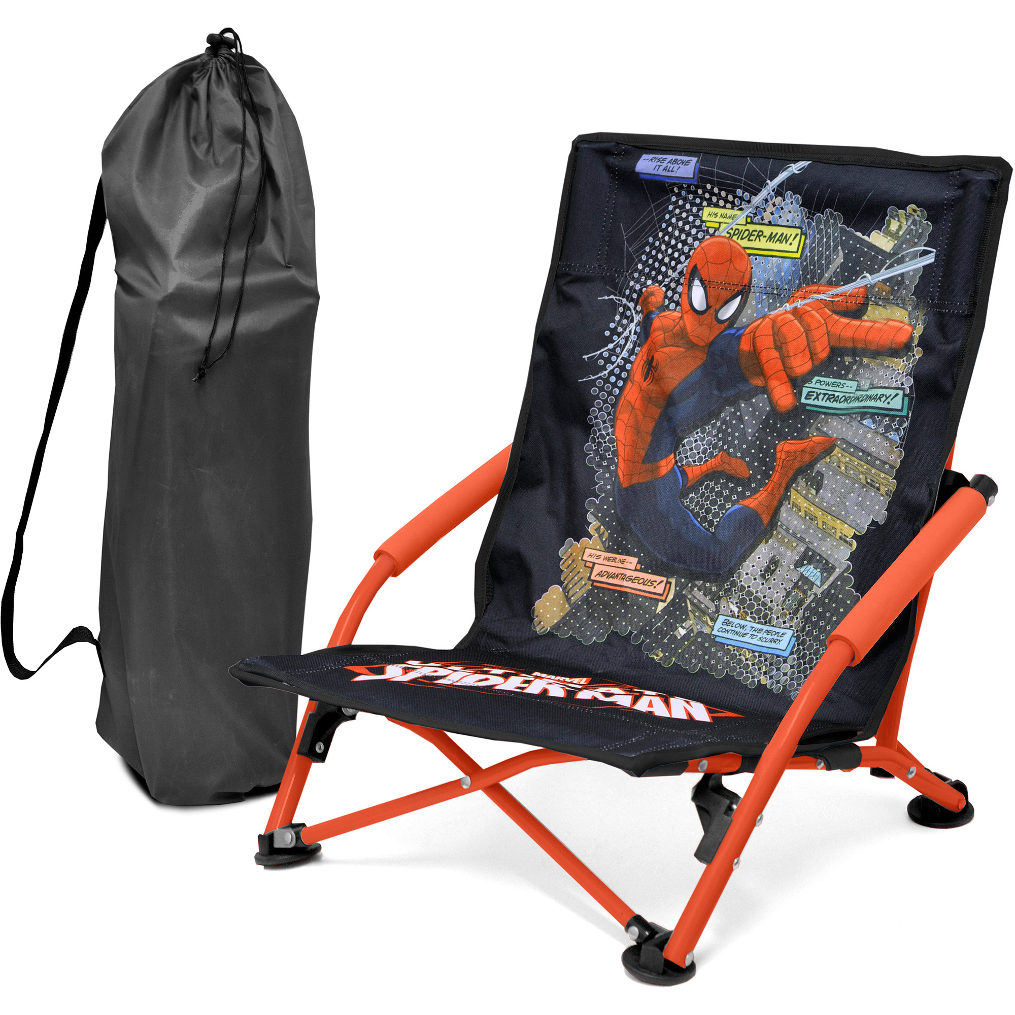 spider man folding lounge chair red walmart com