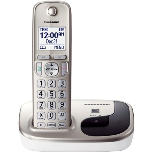 Panasonic KX-TGD210N DECT 6.0 Cordless Phone - Silver - Cordless - 1 x Phone Line - Speakerphone - Backlight