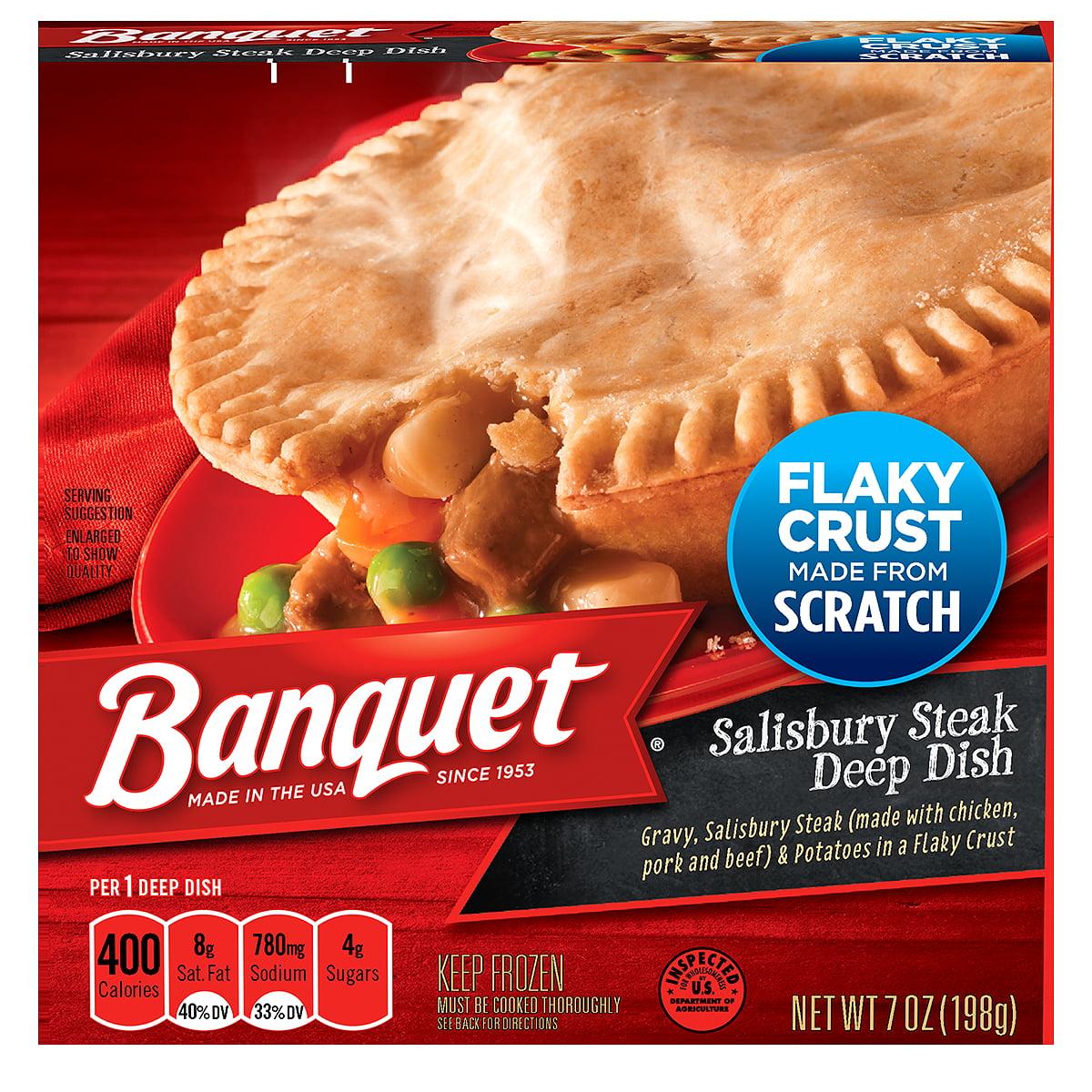 Banquet Frozen Pot Pie Dinner, Salisbury Steak, 7-Ounce