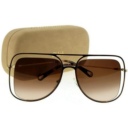 CHLOE Sunglasses CE130S 213 Havana Navigator Women's - 213 Sunglasses