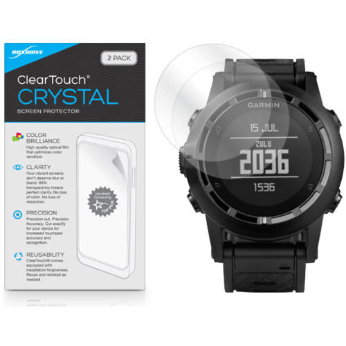 BoxWave ClearTouch Crystal HD Film Skin for Garmin Tactix, 2-Pack