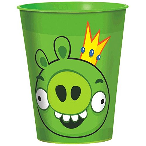 Amscan Fun-Filled Angry Birds Birthday Party Favour Cup, 16 oz, Green - image 1 de 1