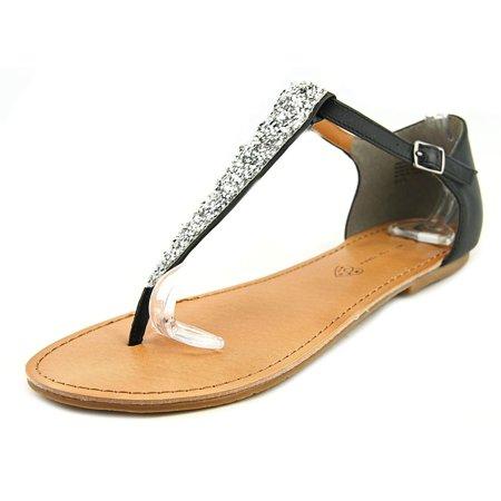BC Footwear Tabby Women Open Toe Synthetic Black Thong Sandal - Walmart.com