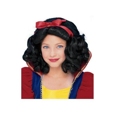 Child Snow White Wig Rubies - Rubies Halloween Wigs