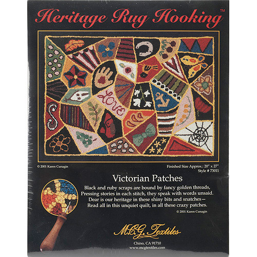 "Heritage Rug Hooking Kit, 20"" x 27"", Victorian Patches"