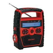 Portable AM/FM Weather Radio with Alarm Clock