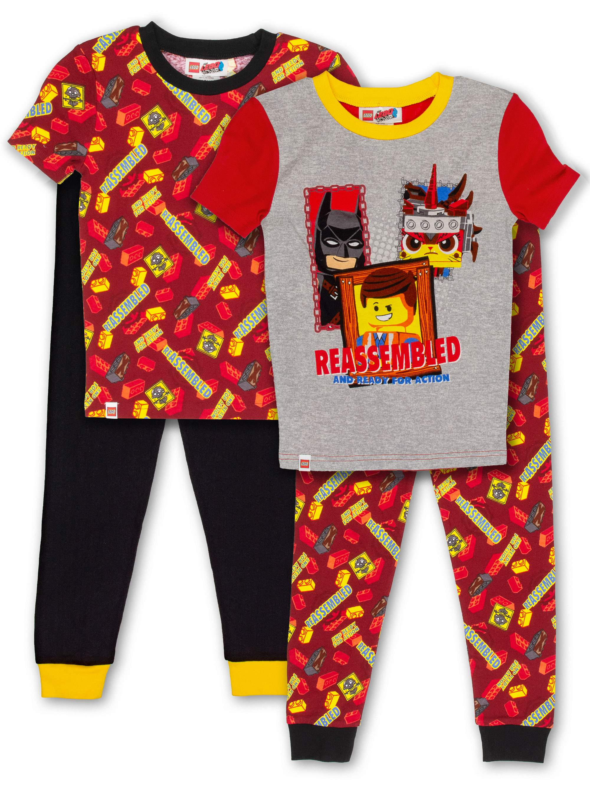 Boys' Lego Movie 2 4 Piece Pajama Sleep Set (Little Boy & Big Boy)