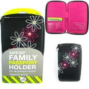 Family Passport Holder RFID Blocking ID Wallet Compact Travel Case Travelon New by Travelon