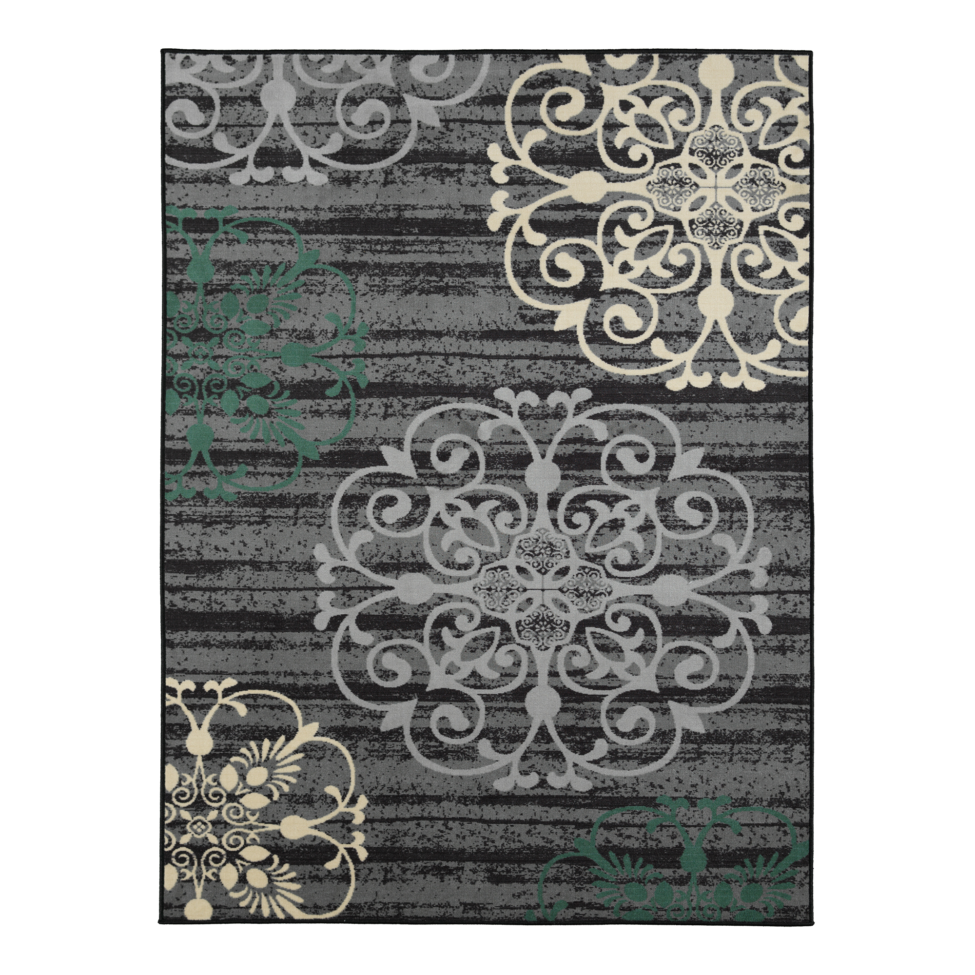Ottomanson Studio Collection Modern Damask Design Area Or Runner Rugs
