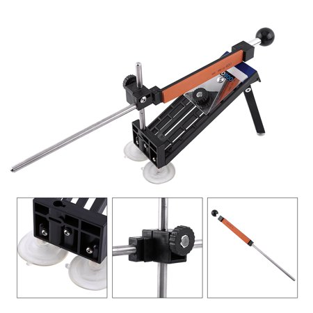 Dilwe Professional Kitchen Sharpening Knife Sharpener System Fix Angle with 4 Stones,Sharpening