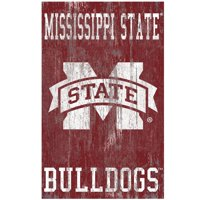 Mississippi State Bulldogs 11'' x 19'' Heritage Distressed Logo Sign