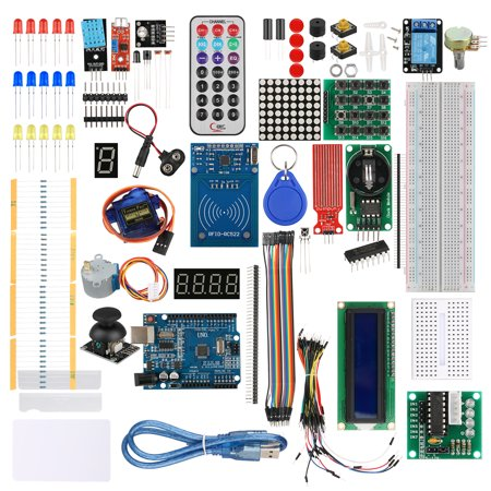 RFID Learning Starter Kit for Arduino UNO R3 with UNO Board, Breadboard,  Jump Cable, Buzzer, LED Light and Resistor